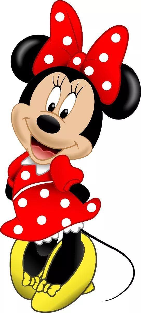 5 Adesivo Parede Quarto Minnie Vermelha Disney Minie Mickey – R$ 80,67