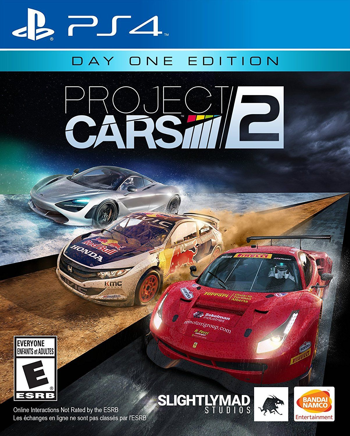 Project Cars 2 Game Cover PS4 Day One Edition Xbox one