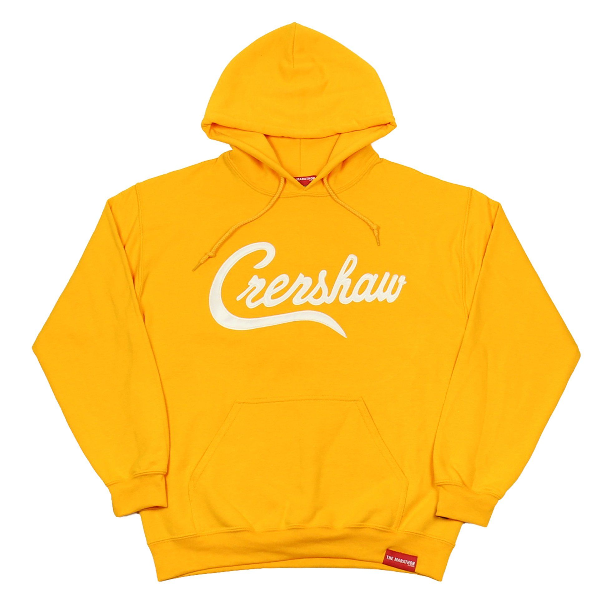 89be2c4a0 Crenshaw Hoodie - Gold/White – The Marathon Clothing | Black Owned ...