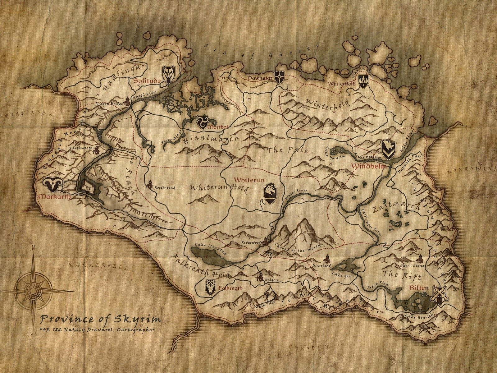 skyrim map High Resolution Skyrim Maps House Decor