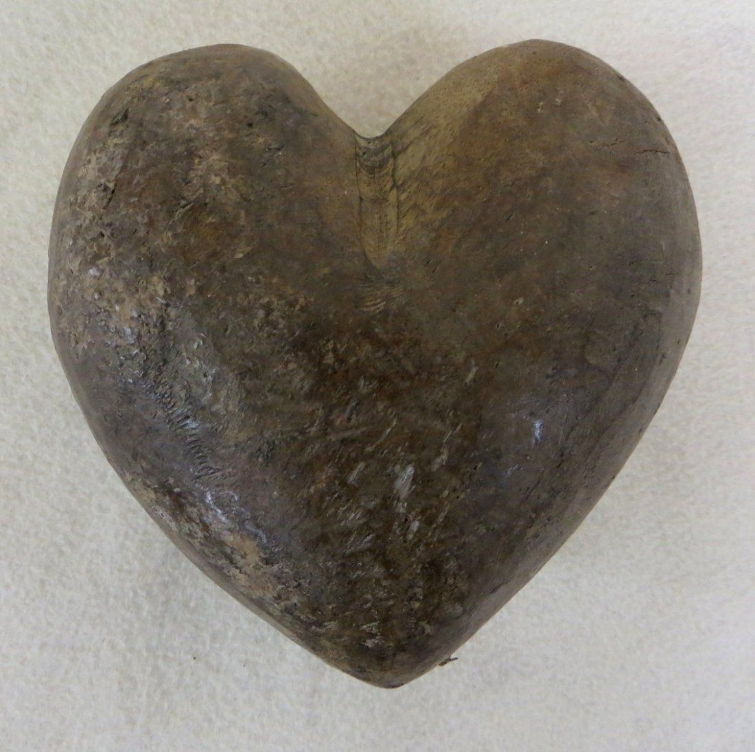 Hand Carved Wooden Heart Probably Mid 19th Century Jan 04 2014 Hyde Park Country Auctions In Ny Wooden Hearts Hand Carved Carving