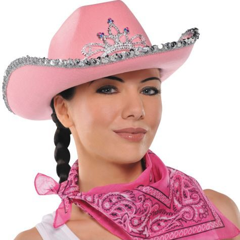 Pink Rhinestone Cowgirl Hat - Party City  8559c4560ba