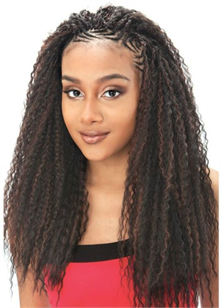 Brazilian Curl Model Model Glance Synthetic Hair Extension For Braid