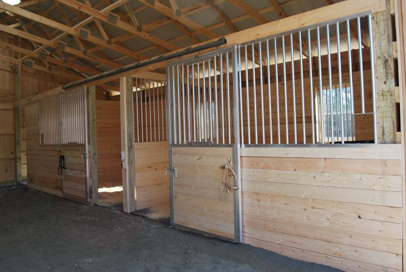 Sliding Stall Doors With Spring Loaded Fold Down Tops Small Barns Horse Stalls Stall Door