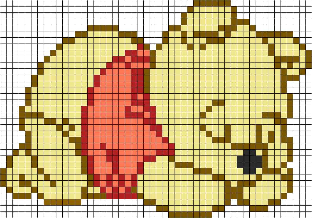 Adorable Sleeping Winnie The Pooh Perler Bead Pattern