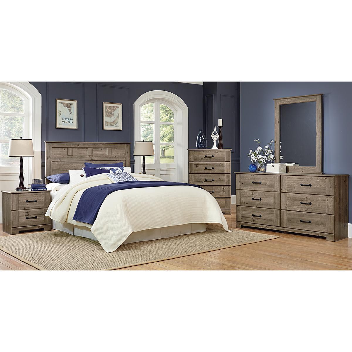 Best Lemoore Meadowlark 4 Piece Queen Bedroom Set In Weathered 400 x 300