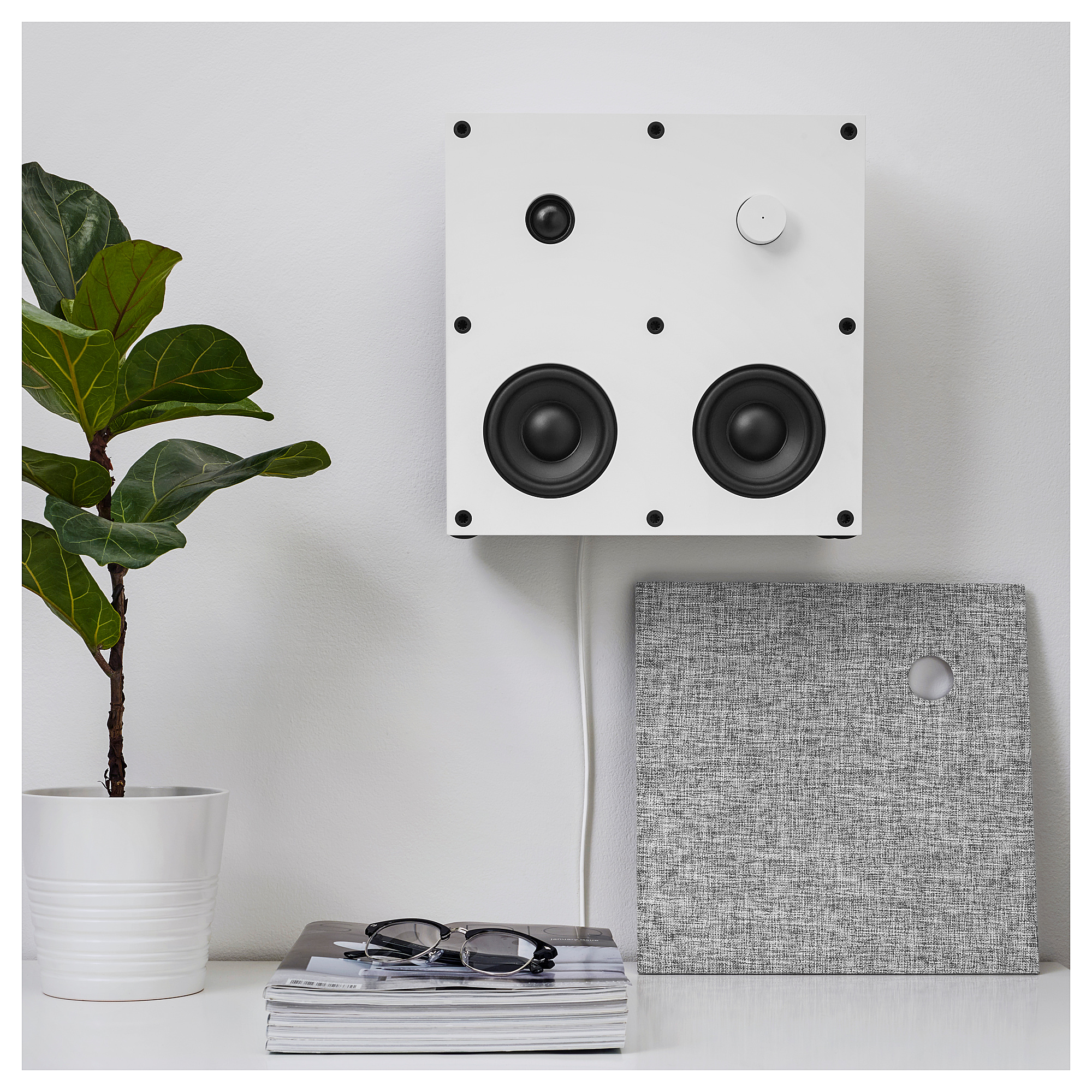 Bluetooth speaker ENEBY white | Products | Bluetooth speakers, Home