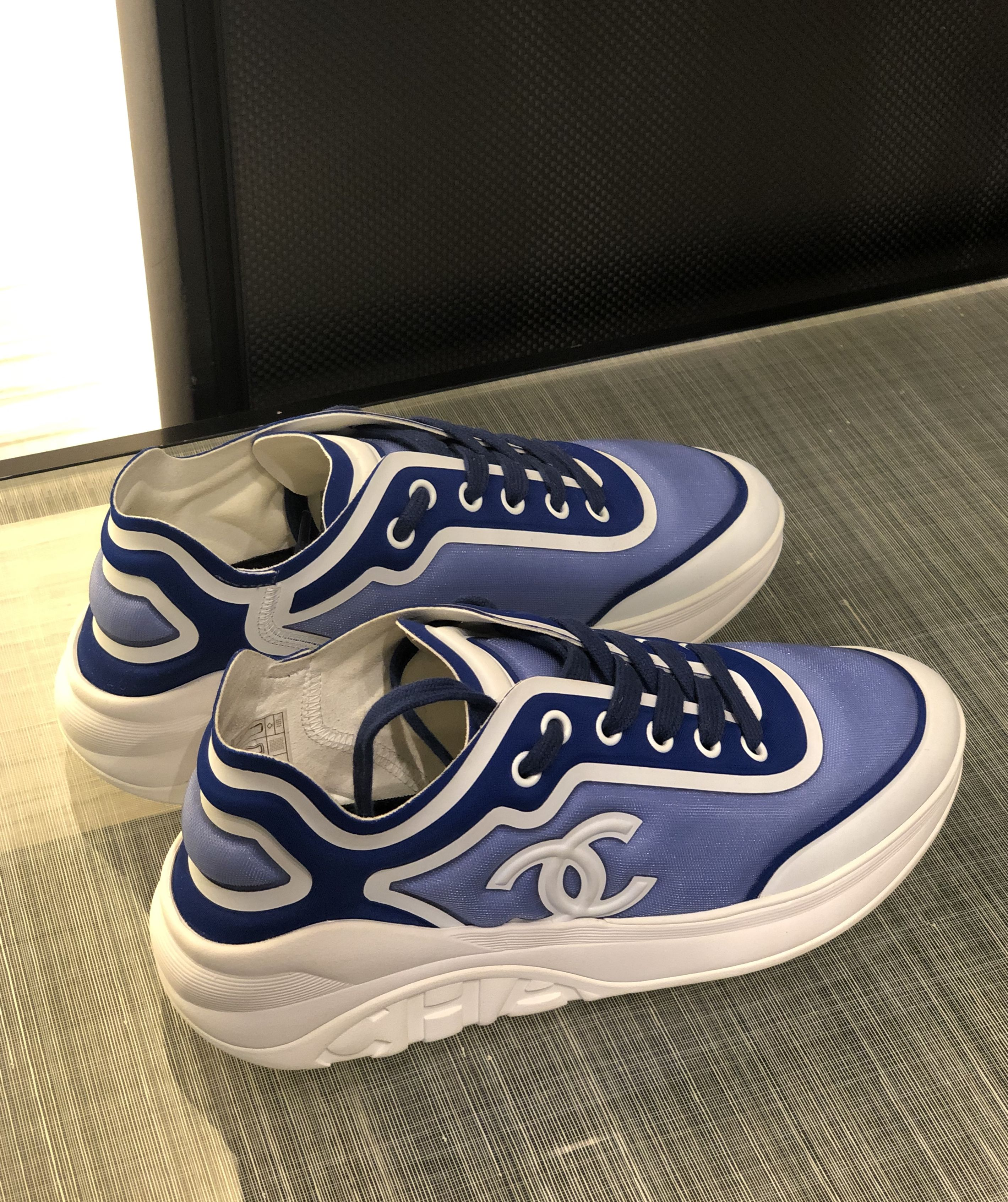 Chanel sneakers, Blue trainers