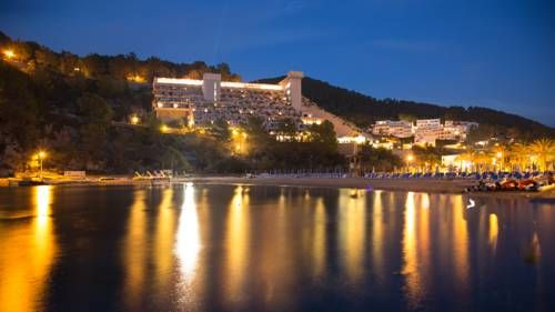 Hotel Club Cartago - All Inclusive Port de San Miguel Club Cartago is an all-inclusive resort on the beach, overlooking San Miguel Bay in Ibiza. It has an outdoor swimming pool and a roof-top restaurant with stunning sea views.
