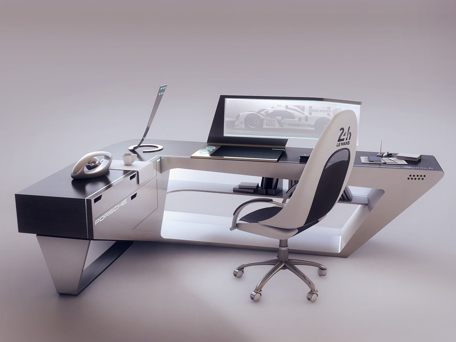 ArtStation - de bureau design moderne, Encho Enchev | Reception 接待 ...