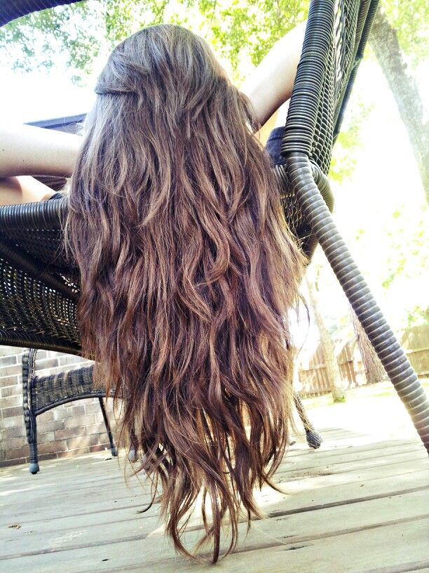 Straight Ish Wavy Long Hair With Tons Of Layers Long Wavy Hair Natural Wavy Hair Thick Hair Styles