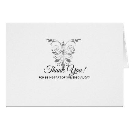 elegant traditional formal wedding thank you card formal speacial