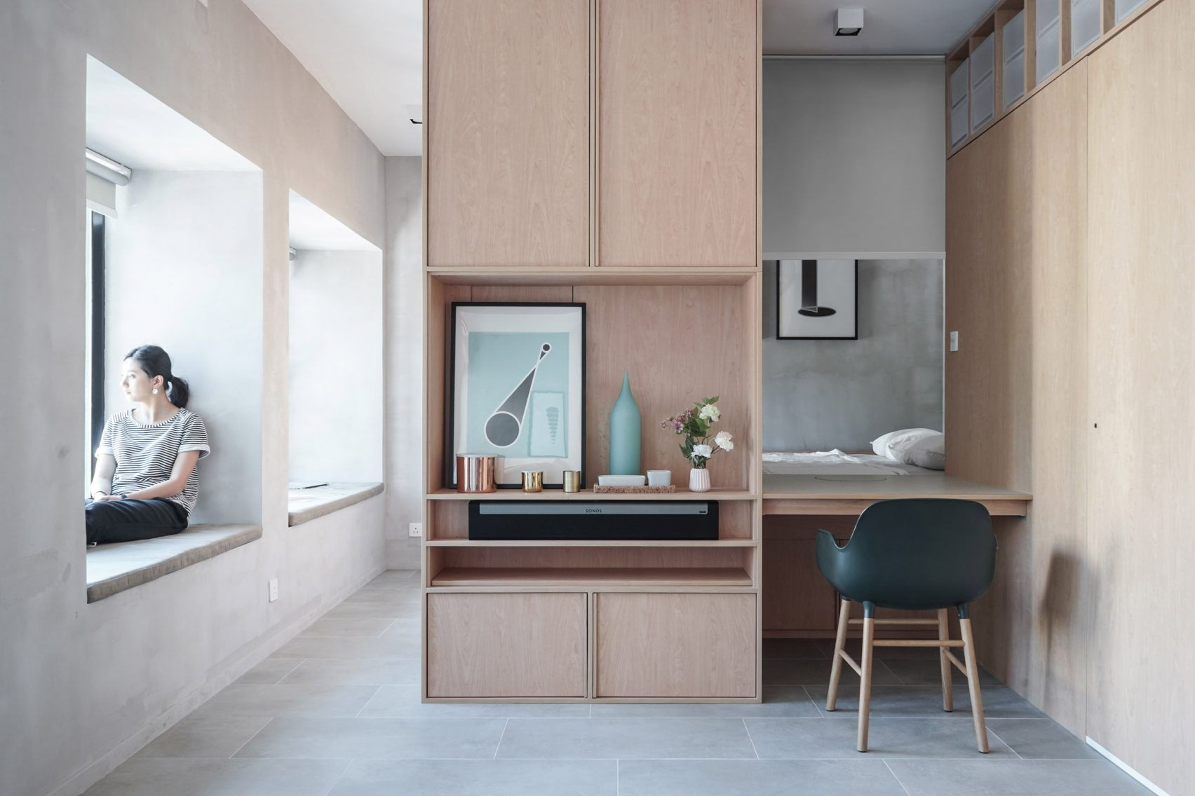 JAAK reconfigures Hong Kong apartment with space saving cabinetry