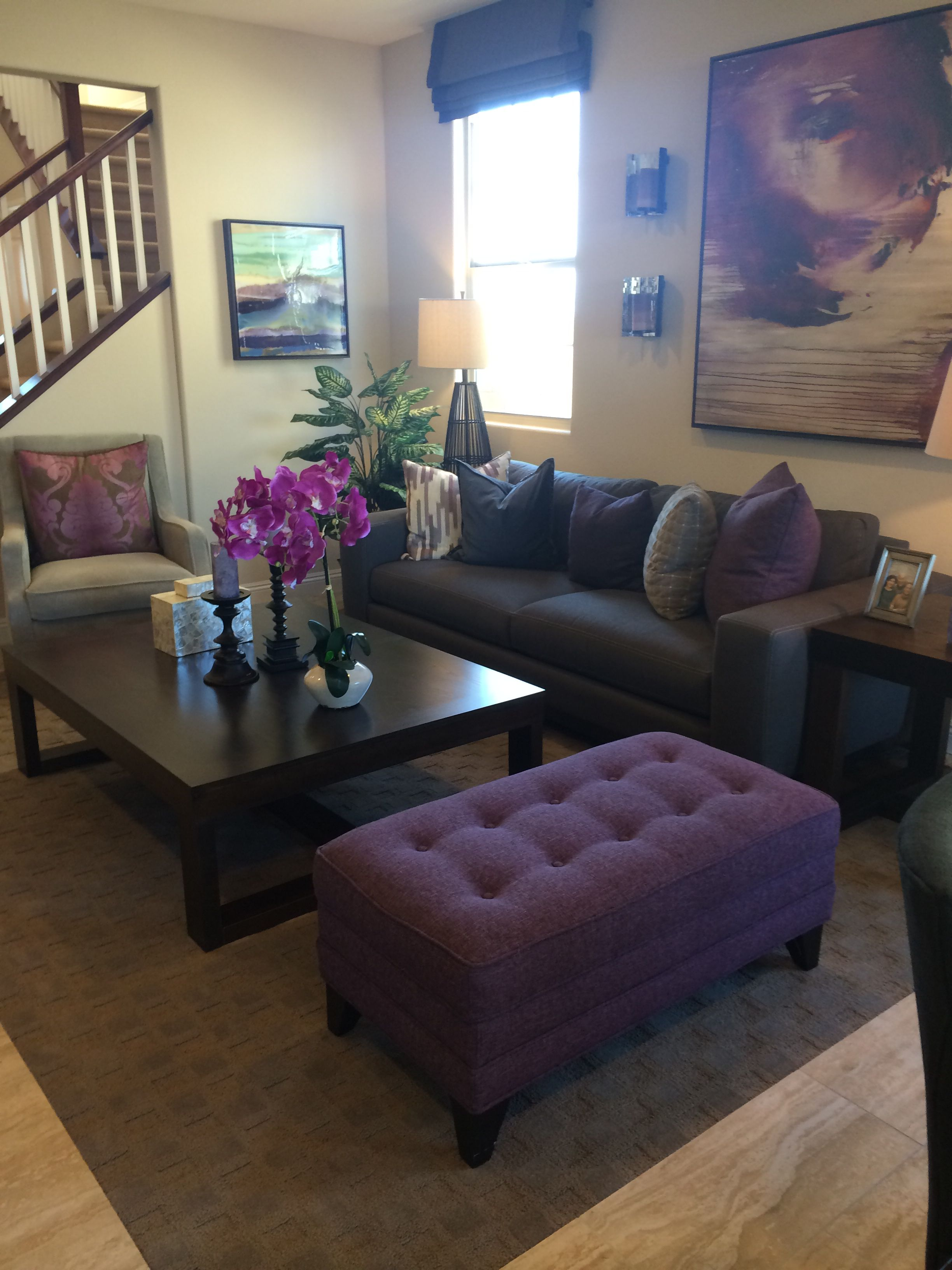 Second Living Room Area Purple Accent Great Setup Bench All Purple Living Room Living Room Bench Living Room Decor Purple