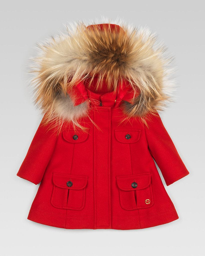 69b030eb Gucci Fur-Trim Parka -She needs this but not in red!   Baby K ...