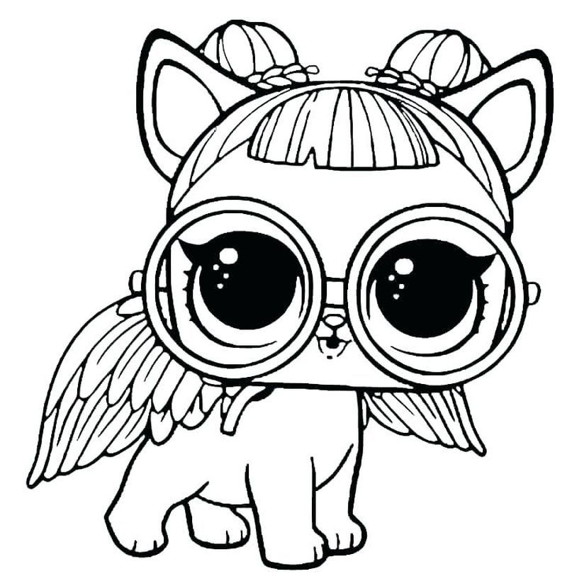Littlest Pet Shop Coloring Pages Unicorn Coloring Pages Lol Dolls Cat Coloring Page