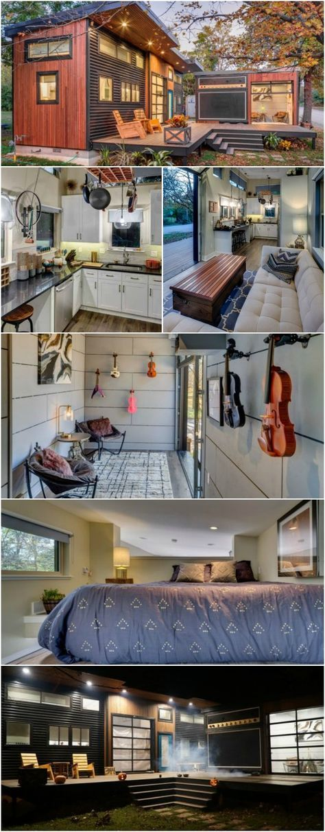 The Amplified Tiny House is a 400 Square Foot Cozy Paradise - We've seen some pretty awesome tiny houses that are super cool but we've never seen one that literally rocks until now! The Amplified Tiny House is a unique home made up of a 400 square foot tiny house and a 120 square foot guest house.