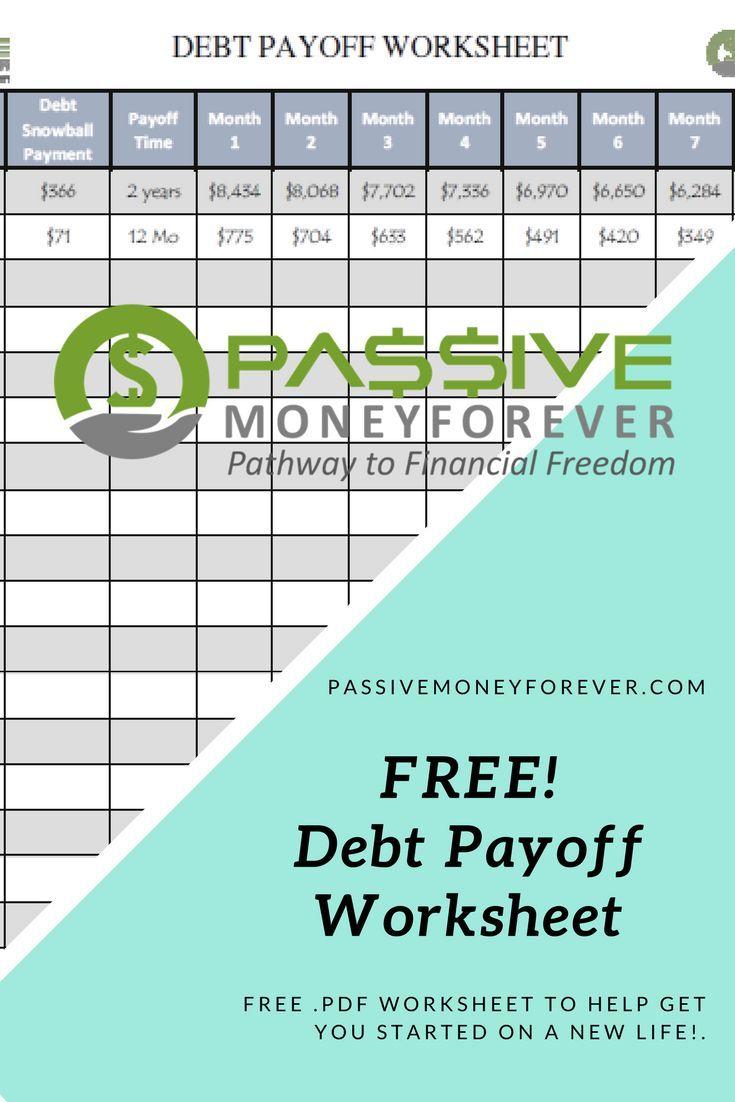 Debt Payoff Worksheet | Snowball, Debt and Saving money