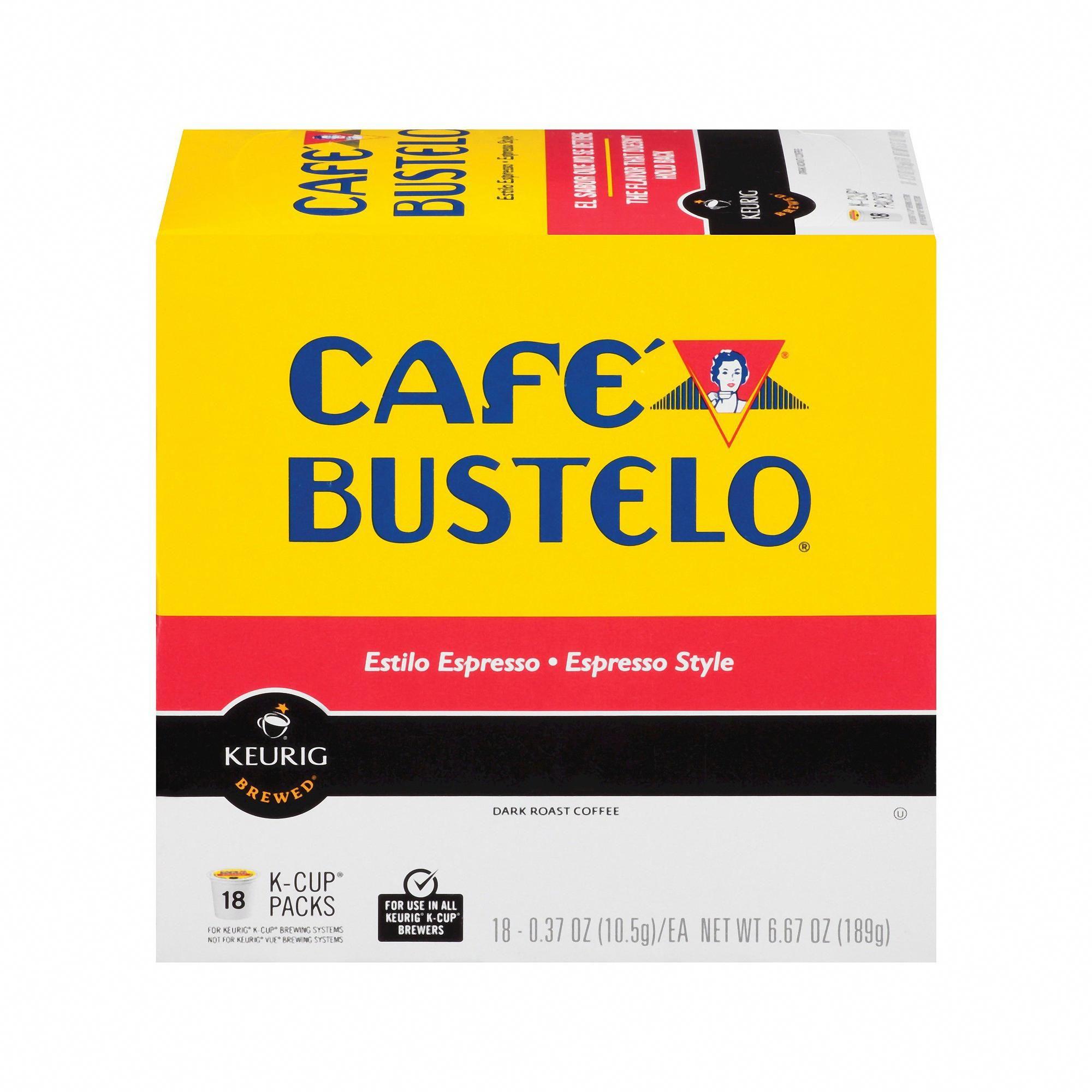Cafe Bustelo Espresso Dark Roast Coffee KCup Pods