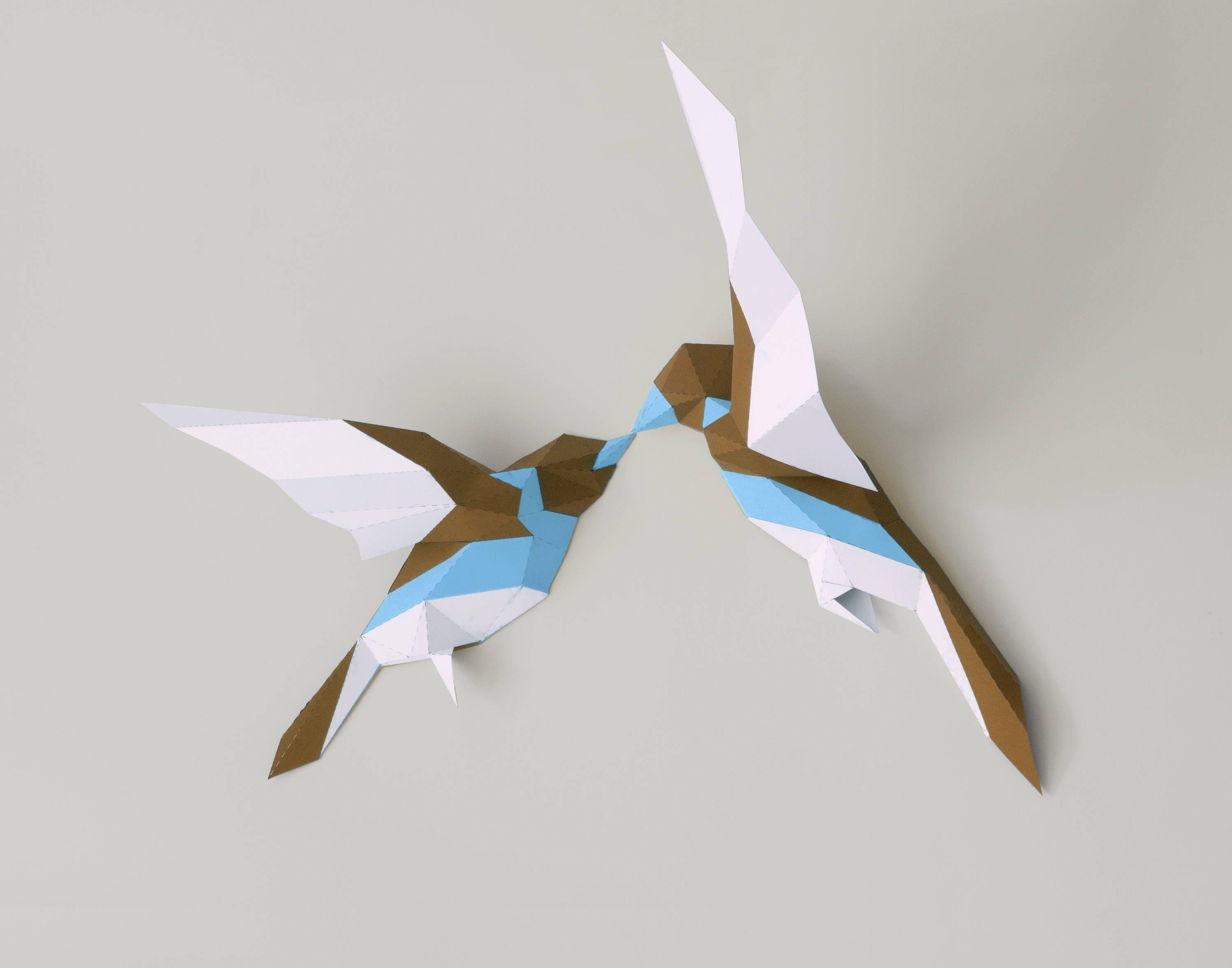 Birds PapercraftBirds Paper artPaper trophy3D papercraft3D