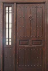 Puerta exterior en madera vieja hoja m s fijo for Puerta vieja madera