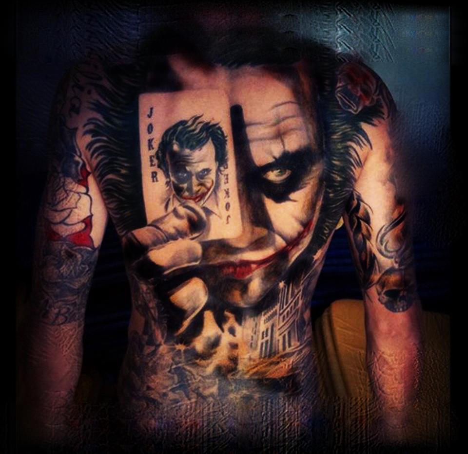 938ef5ae235b8 Joker tattoo by me /ps Joker Tattoos, Batman Tattoo, Movie Tattoos, Dc