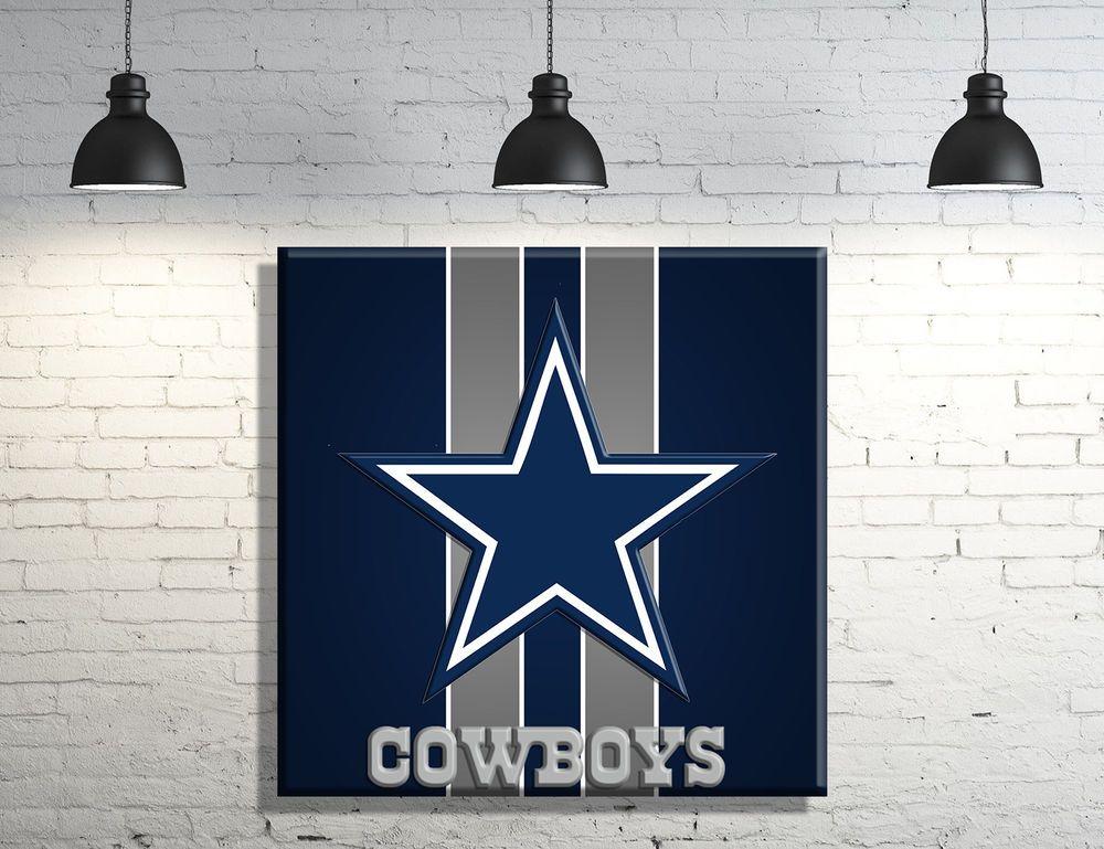 Dallas Cowboys Framed Canvas Wall Art Decor Ebay