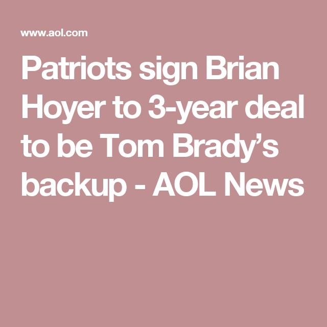 Patriots Sign Tom Brady S New Backup After Trading Away Jimmy Garoppolo Patriots Sign Patriots Tom Brady