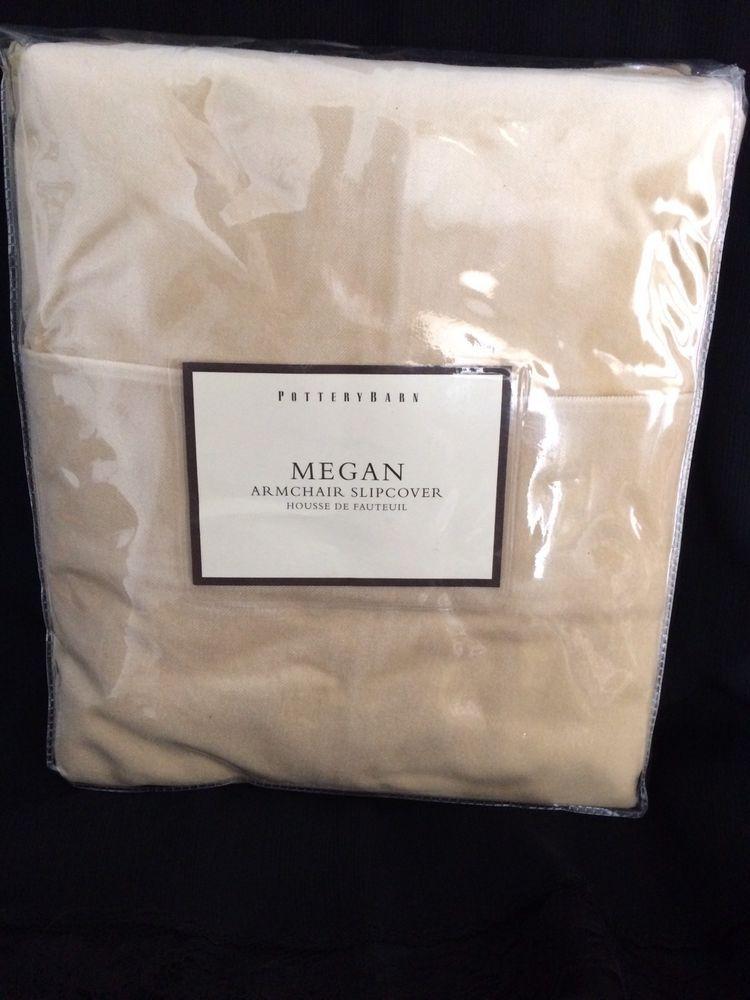 BRAND NEW Old Stock Pottery Barn Megan Chair Slipcover Skirted Velvet Cotton