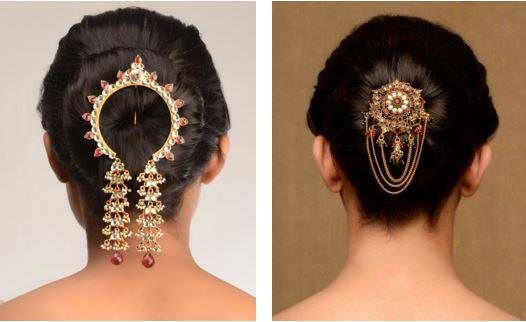 Simple Ambada Hairstyles Bridal Hair Buns Hair Styles Indian Wedding Hairstyles