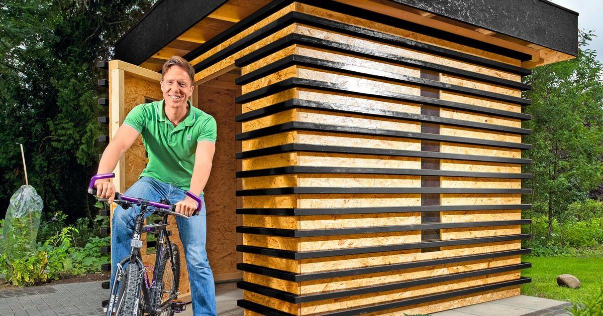 På kun et par dager kan du bygge et flott skur til sykler
