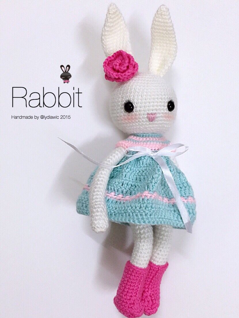 My crochet animal @ Rabbit | maskotki | Pinterest | Conejo, Pasos de ...