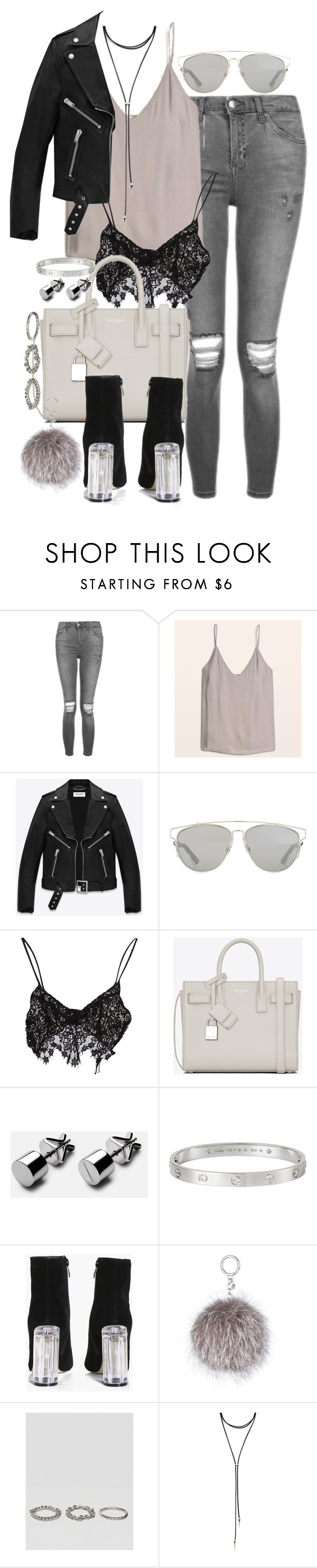 """Untitled #142"" by marinas-clothes ❤ liked on Polyvore featuring Topshop, Yves Saint Laurent, Christian Dior, For Love & Lemons, Cartier, Boohoo, MICHAEL Michael Kors, ASOS and Forever 21"