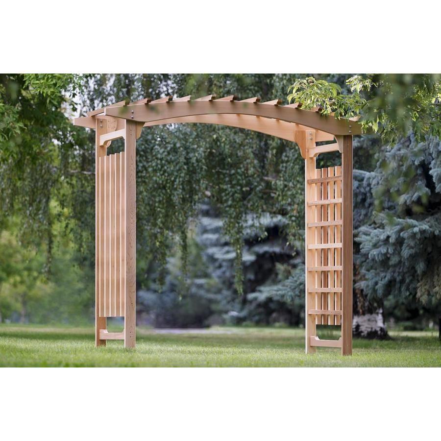 All Things Cedar 8 Ft Cedar Garden Arbor At Lowes Com Garden In