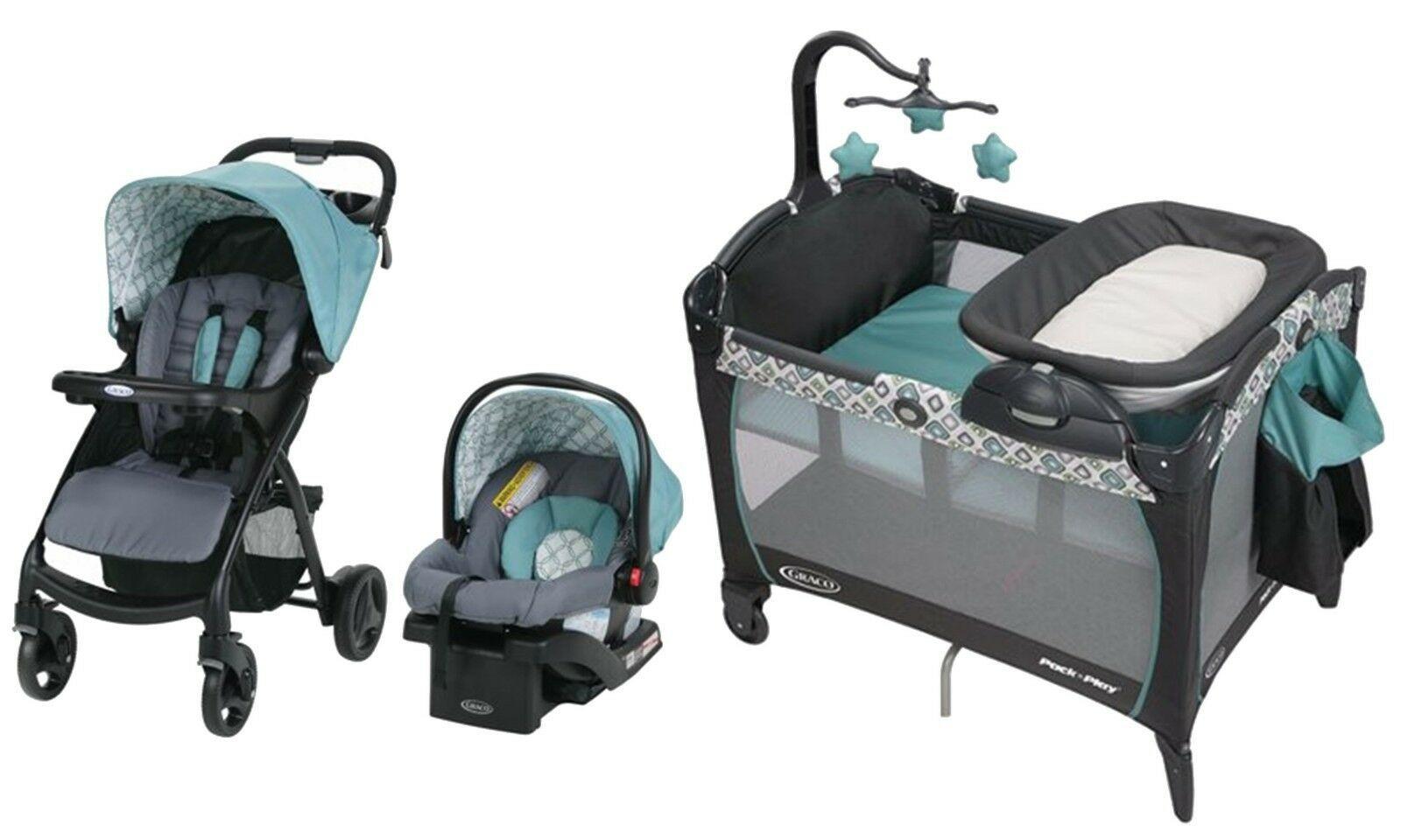 Graco Baby Stroller Infant Car Seat Playard Crib w
