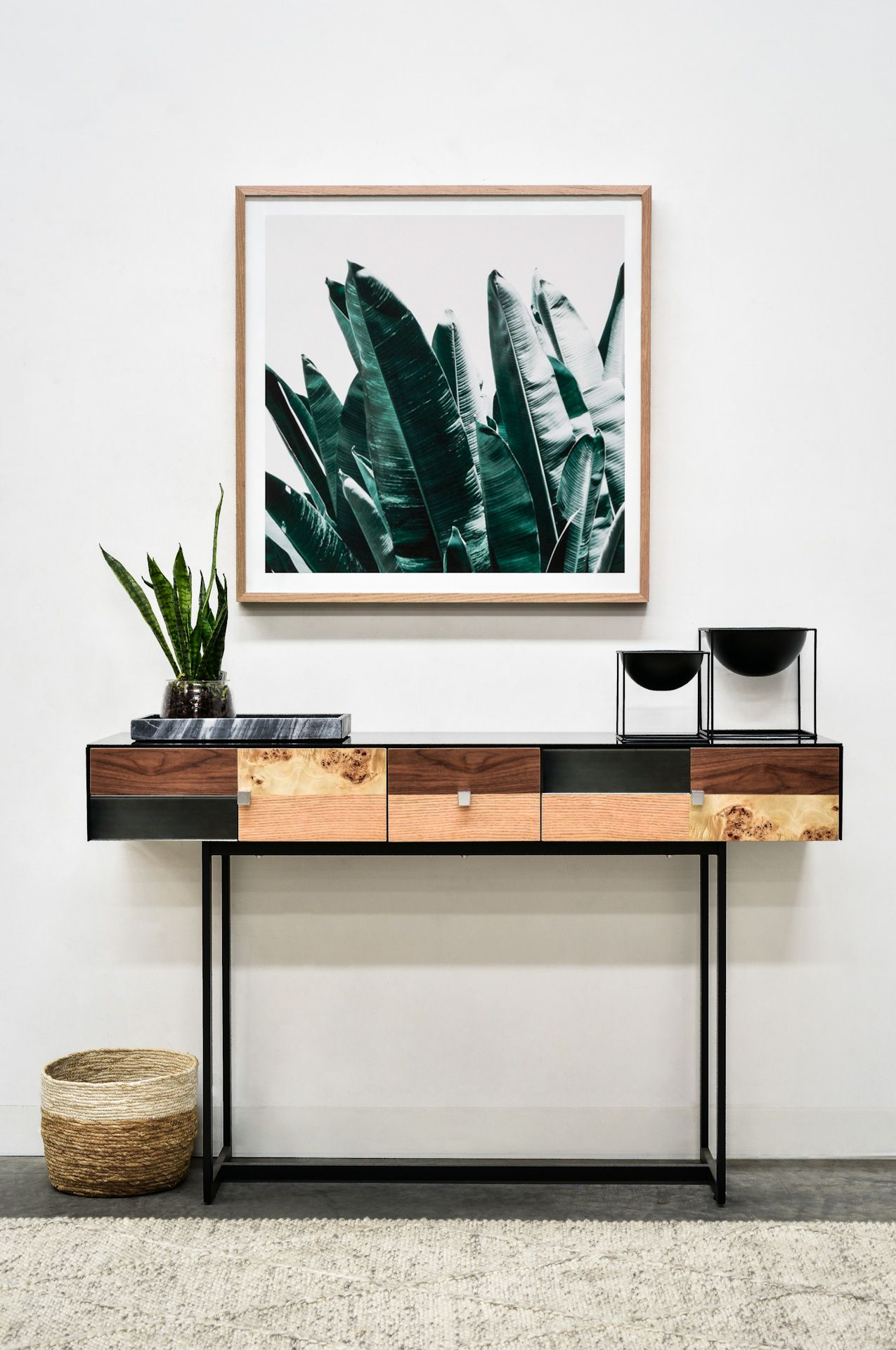 Eclectic Entry Wood Console Table Hall Console Table Console Table