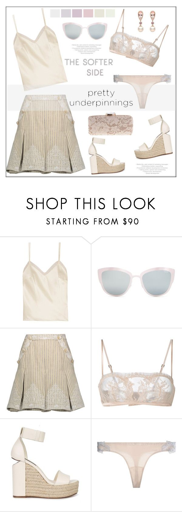 """""""The Prettiest Underpinnings"""" by pat912 ❤ liked on Polyvore featuring Halfpenny London, Topshop, Zimmermann, La Perla, Alexander Wang, WithChic, polyvoreeditorial and prettyunderpinnings"""