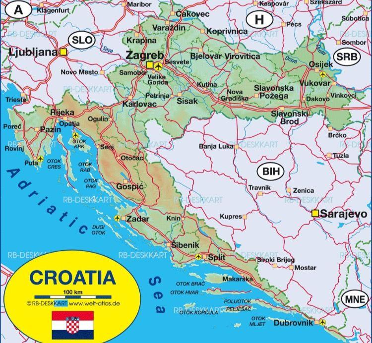Zagreb Croatia Croatia Map Croatia Zagreb Croatia