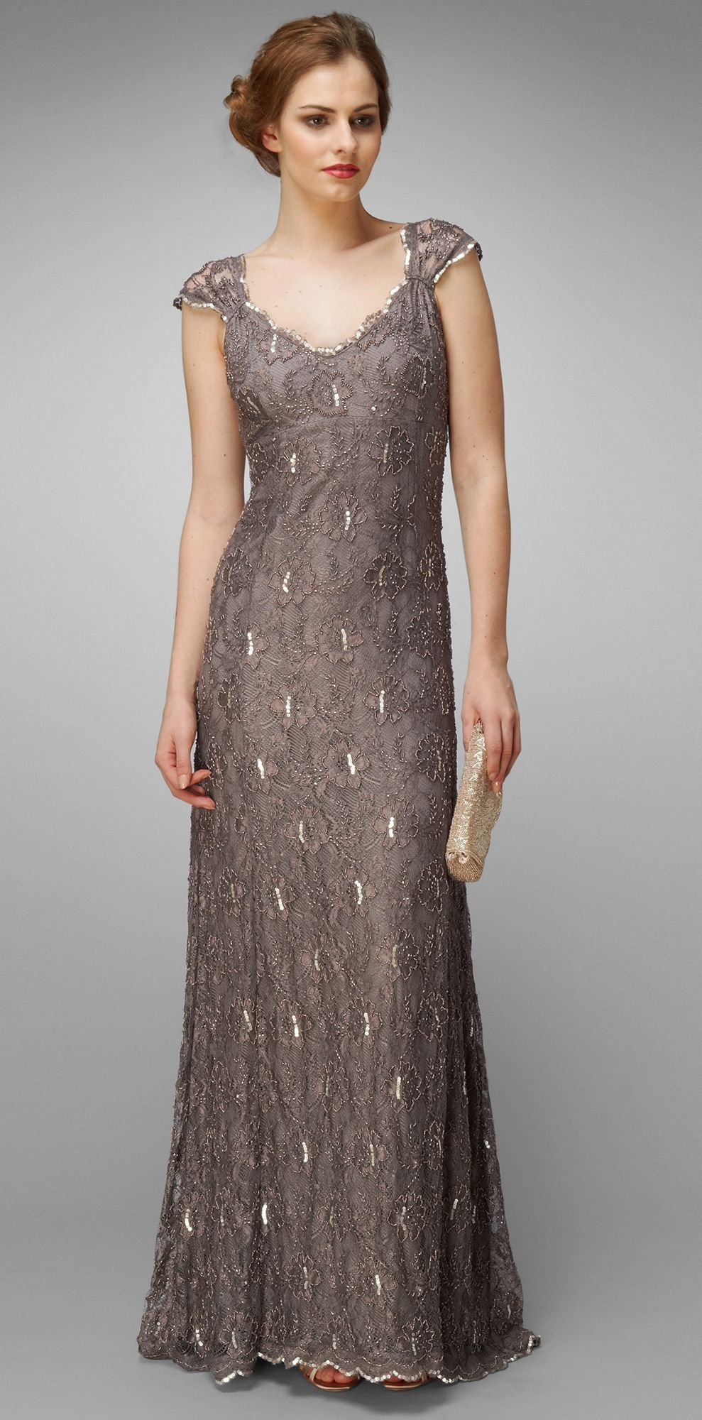 Collection 8 Eve Lace Beaded Full Length Dress by Phase Eight ...