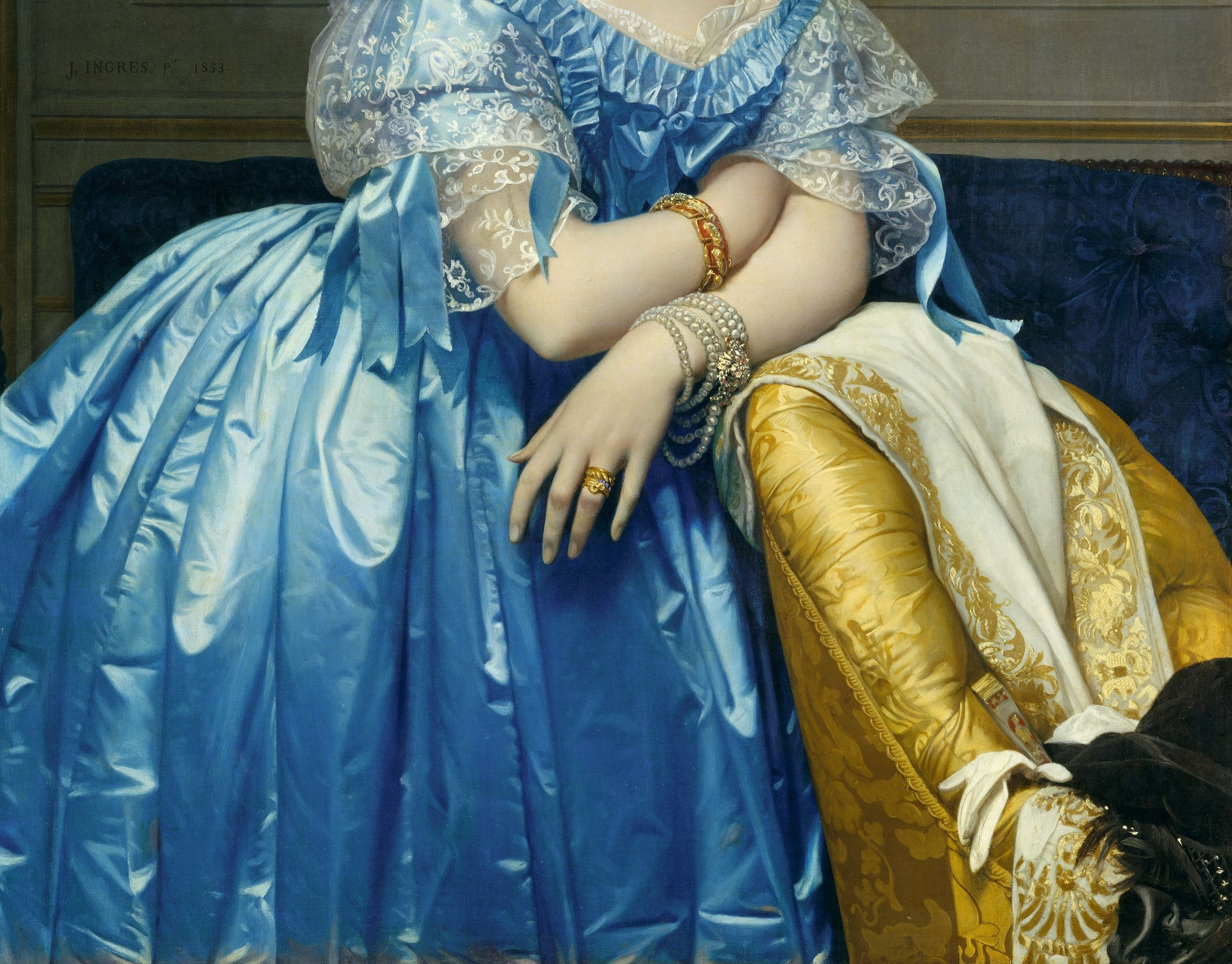 Jean Auguste Dominique Ingres Princesse de Broglie (detail)