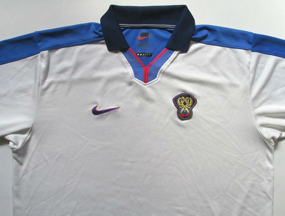 Russia 1998 1999 2000 Home Player Issue Football Shirt By Nike Nt Rossiya Russian Soccer Jersey 90s Vintage World Football Shirts Soccer National Football Teams