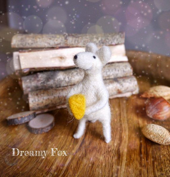 Needle felted mouse  needle felted animal  soft от DreamyFox