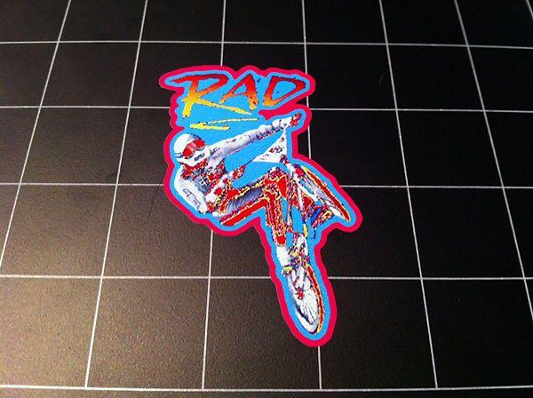 rad movie style logo decal / sticker bmx racing #80s gt dyno