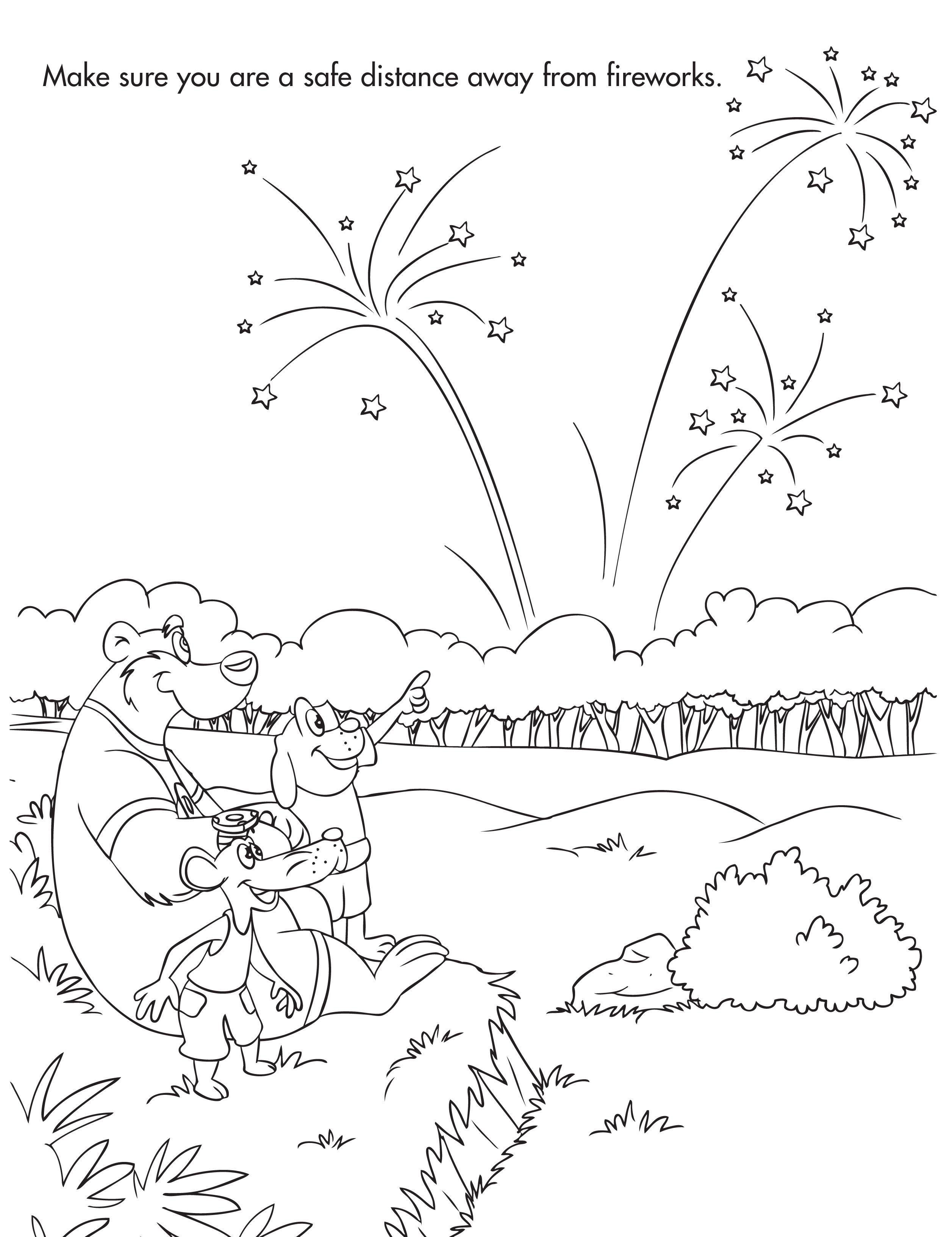 Fireworks Coloring Kleurplaten