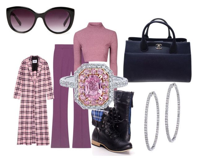 """Pink Sapphire"" by irma-silvano on Polyvore featuring moda, Gucci, Glamorous, Forever 21, MSGM, Chanel e BillyTheTree"