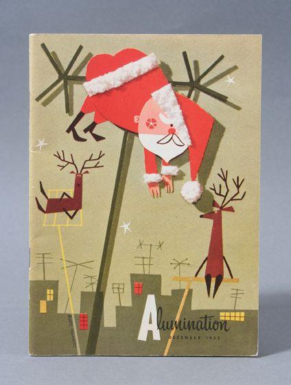 Bette Hackett Alumination Magazine Vintage Christmas Cards Vintage Christmas Images Christmas Art