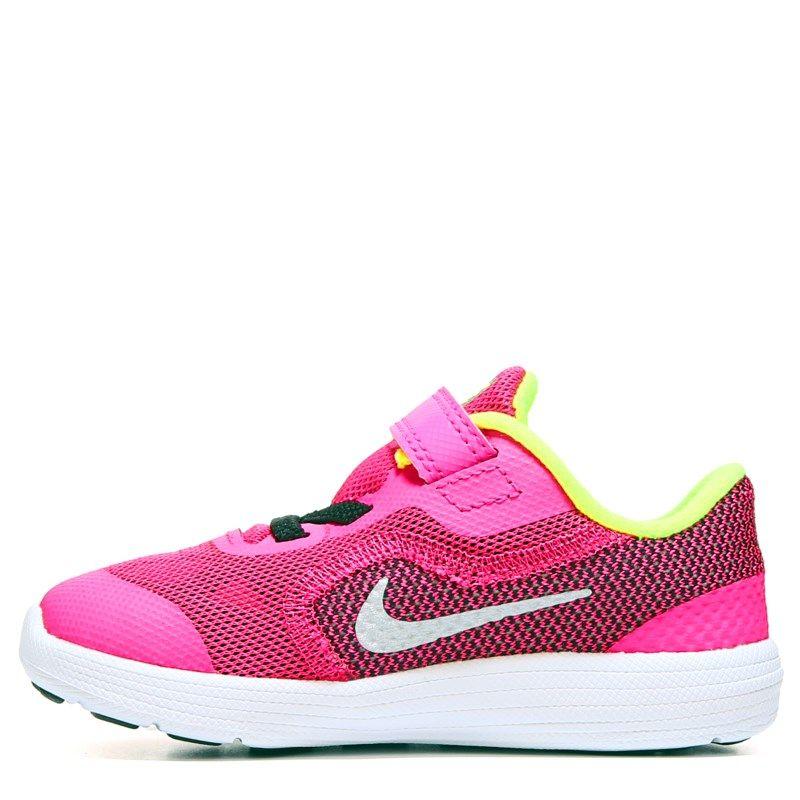 92a43a6913b Nike Kids  Revolution 3 Running Shoe Toddler Shoes (Pink Black Volt) - 5.0 M