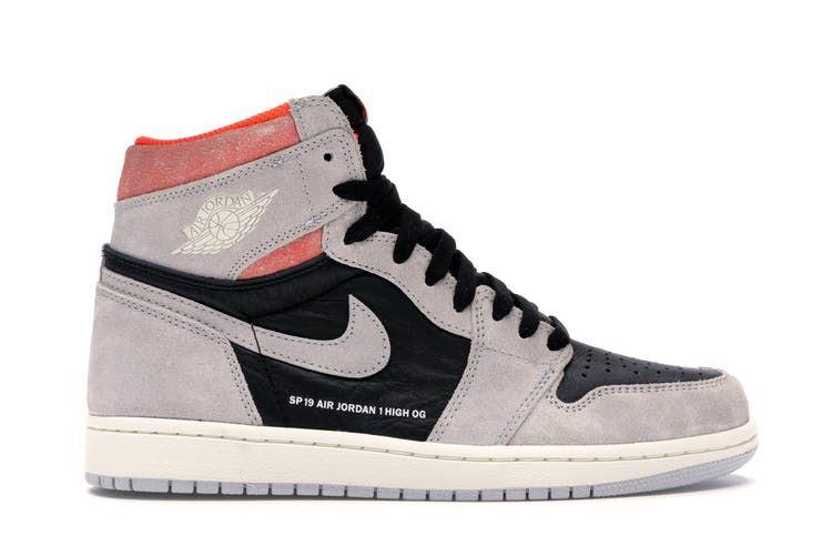 Check Out The Jordan 1 Retro High Neutral Grey Hyper Crimson