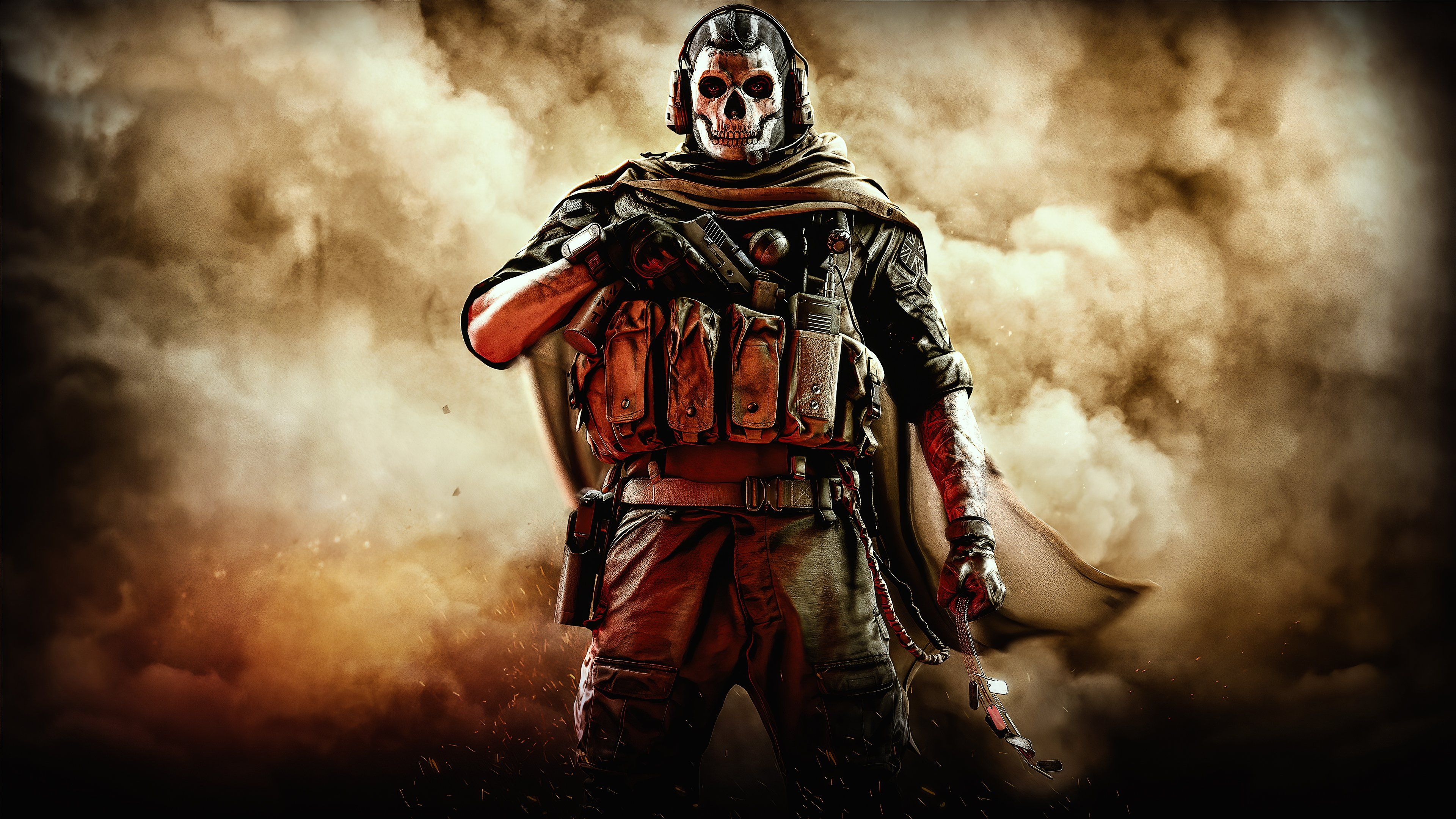 Call Of Duty Modern Warfare 2020 Warzone Ghost 4k Wallpaper Syanart Station In 2020 Call Of Duty Modern Warfare Ghost Soldiers