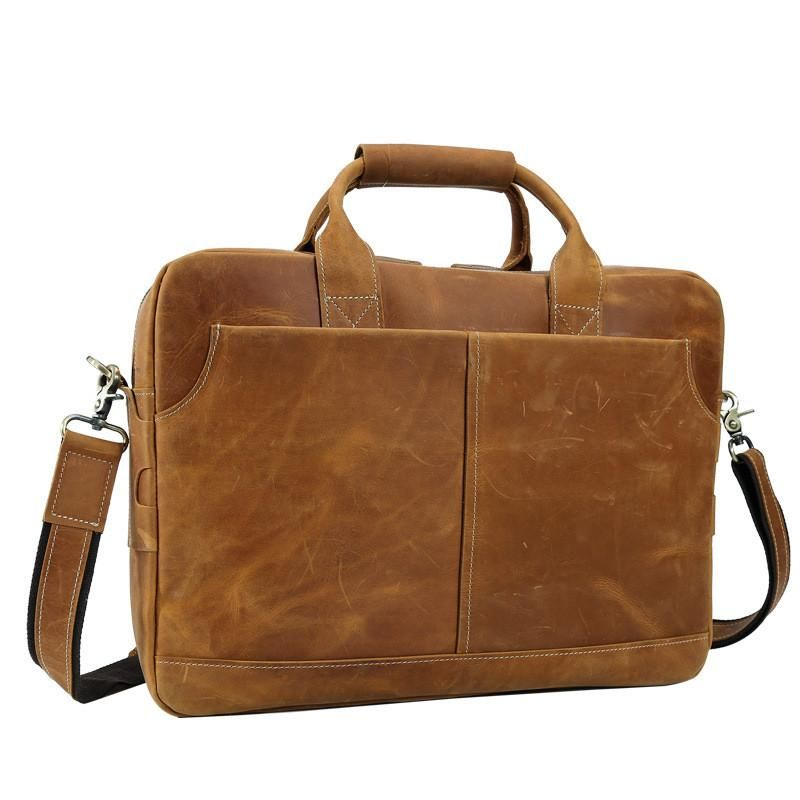 TigerTown Rare Crazy Horse Genuine Real Leather Men s bags Briefcase Laptop  Hand Bag Messenger Shoulder Tote Handbag d98c5bdacb947